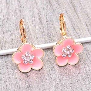 12MM Snap Gold Plated Earrings Charms KS1304-S schnappt schmuck