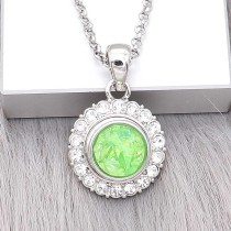 12MM snap Silver Plated With green Shell charms KS7159-S snaps jewerly