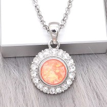 12MM snap Silver Plated With orange Shell charms KS7164-S snaps jewerly