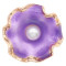 20MM snap gold Plated  Flowers with purple enamel and  Pearl KC8206 snaps jewerly