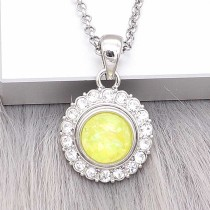 12MM snap Silver Plated With yellow Shell charms KS7163-S snaps jewerly