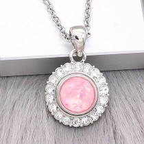 12MM snap Silver Plated With Pink Shell charms KS7162-S snaps jewerly