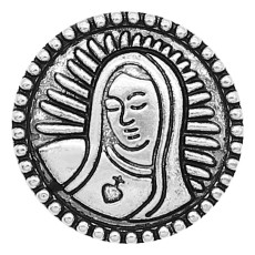 20MM Nun snap Silver Plated charms KC9350 snaps jewerly