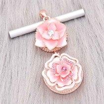 Dos broches de oro rosa en forma de 20MM broches de joyería de estilo KC0484
