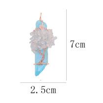 Ágata de piedra natural Árbol de la vida cobre Colgante de collar Blue Water