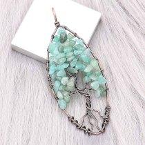 Naturstein-Achat Baum des Lebens Kupfer Anhänger der Halskette (ohne Kette) Modeschmuck