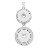 Two snap sliver Pendant fit 20MM snaps style jewelry KC0483
