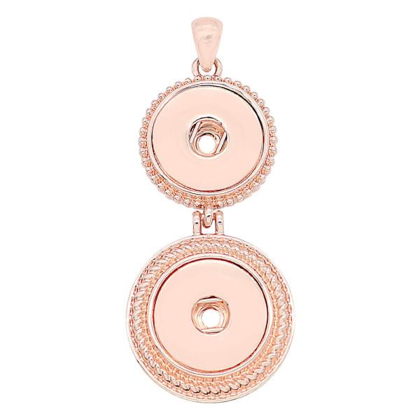 Deux boutons pression en or rose ajustés 20MM s'enclenchent style bijoux KC0484