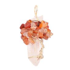 Natürlicher Kristallbaum des Lebens Anhänger der Halskette Braun