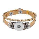 Золотые кожаные браслеты с защелкой KC0530 fit 20мм защелки на кнопках 1