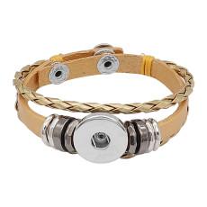 Goldene Leder-Snap-Armbänder KC0530 fit 20mm Snaps Chunks 1-Taste