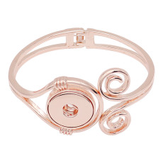 Snap Bangle Bracelet Rose Gold fit 20MM snaps style jewelry KC0523