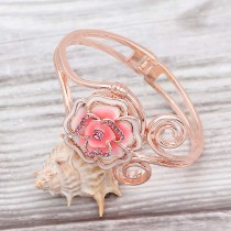 Snap Bangle Bracelet Rose Gold fit 20MM broches estilo joyería KC0523