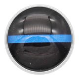 20MM snaps black glass design KC2211 interchangable Blue
