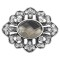 20MM design snap Silver Plated with gray  Rhinestone charms KC9372 snaps jewerly
