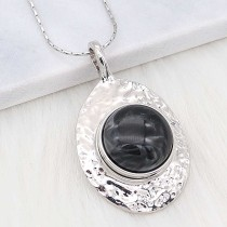 20MM snap Silver Plated With black Plastic acrylic charms KC2200 snaps jewerly
