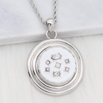 20MM design snap Silver Plated With white Rhinestone and enamel KC8216 snaps jewerly