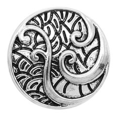 20MM design snap Silver Plated charms KC9366 snaps jewerly