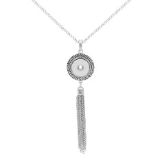 pendant  Necklace with  Tassels 80cm chain KC0488 fit 20MM chunks snaps jewelry