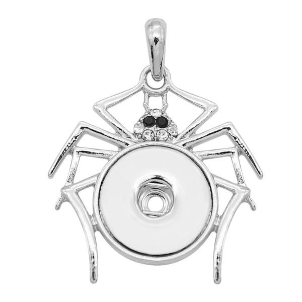 snap sliver Pendant avec strass 20MM s'enclenche bijoux de style KC0496