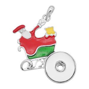 スナップスライバークリスマスエナメルペンダントフィット20MMスナップスタイルジュエリーKC0489