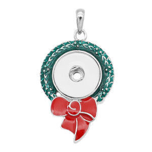 snap sliver Christmas enamel Pendant fit 20MM snaps style jewelry KC0491