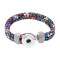 Multicolor lila Leder Snap Armbänder KC0554 fit 20mm Snaps Chunks 1-Taste