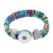 Mehrfarbige Stoff-Snap-Armbänder KC0550 fit 20mm-Snaps-Chunks 1-Button