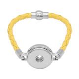 Bracelets en cuir jaune KC0541 fit 20mm s'enclenche chunks bouton 1