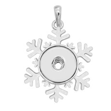 snap sliver Christmas Pendant  fit 20MM snaps style jewelry KC0498