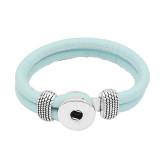 Bracelets en cuir bleu KC0542 fit 20mm s'enclenche chunks bouton 1