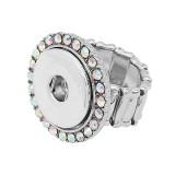 1 boutons-pression élastique avec bague en strass ajustement bijoux KC1322