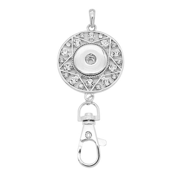 snap sliver Pendant avec strass 20MM s'enclenche bijoux de style KC0492