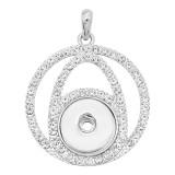 snap sliver Pendant avec strass 20MM s'enclenche bijoux de style KD0303