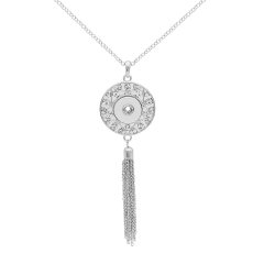 pendant  Necklace with rhinestones and Tassels 80cm chain KC0487 fit 20MM chunks snaps jewelry