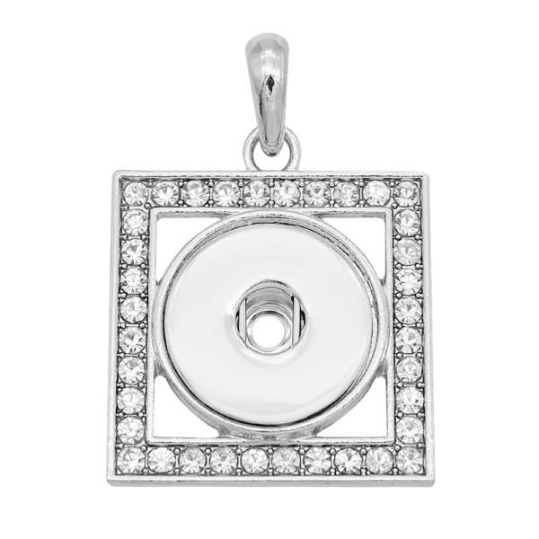 snap sliver Pendant avec strass 20MM s'enclenche bijoux de style KC0499