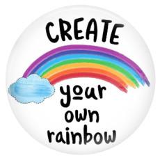 20MM Rainbow PaintedエナメルメタルC5952プリントスナップジュエリー