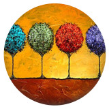 20MM tree Painted enamel metal C5951 print snaps jewelry