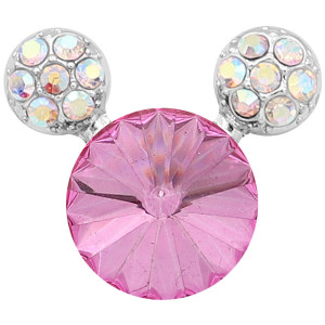 20MM Cartoon snap Silver Plated with Pink Rhinestone charms KC8223 snaps jewerly