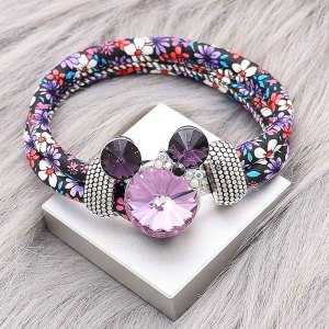 20MM Cartoon snap Silver Plated with purple Rhinestone charms KC8230 snaps jewerly