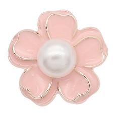 Цветы 20MM с позолотой и жемчужно-розовой эмалью KC8218 украшают драгоценности