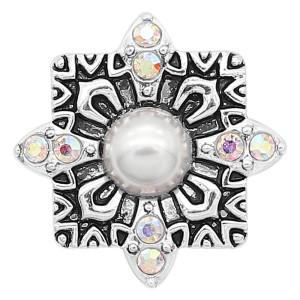 Хрусталь 20MM с серебристым покрытием, покрытый белым горным хрусталем