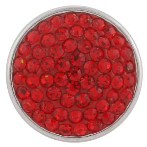 18mm Sugar snaps Alloy with red rhinestones KB2305 snaps jewelry