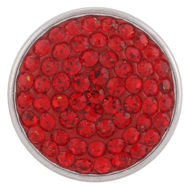 18mm Сахарные защелки Сплав с красными стразами KB2305 защелкиваются украшения