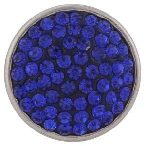 18mm Sugar snaps Alloy with blue rhinestones KB2301 snaps jewelry