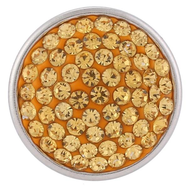 Broches de azúcar 18mm Aleación con diamantes de imitación amarillos Joyas de broches KB2303