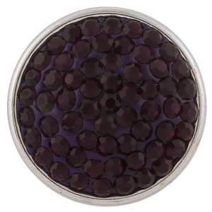 18mm Sugar snaps Alloy with  purple rhinestones KB2321 snaps jewelry