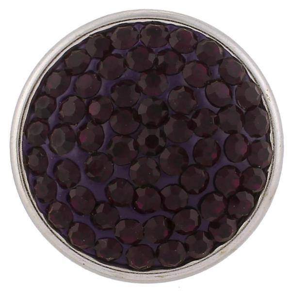 18mm Sugar snaps Сплав с фиолетовыми стразами KB2321 оснастки ювелирные изделия