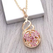 20MM snap gold plated Plated with rose-red Rhinestone KC8241 snaps jewerly