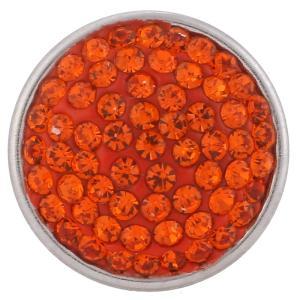 18mm Sugar snaps Alloy with Orange rhinestones KB2316 snaps jewelry